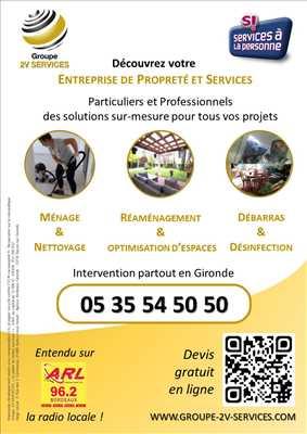 Exemple Nettoyage en entreprise n°33 zone Gironde par GROUPE 2V SERVICES