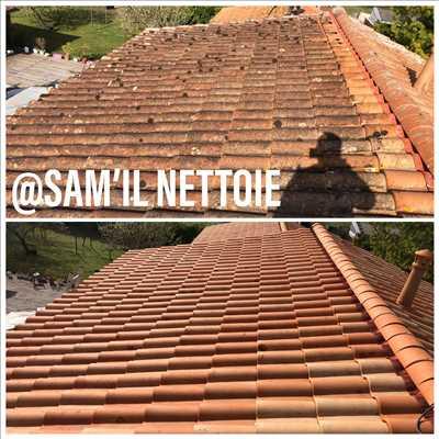 Exemple Nettoyage de toiture n°65 zone Charentes par Sammy